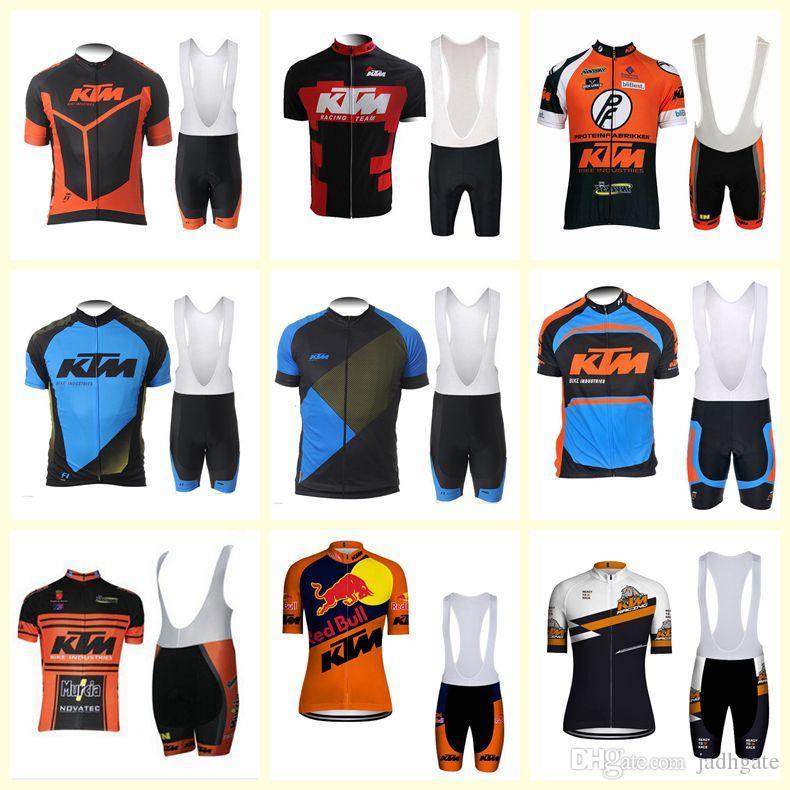 KTM team Cycling Short Sleeves jersey bib shorts sets custom made men breathable outdoor sports U20031304