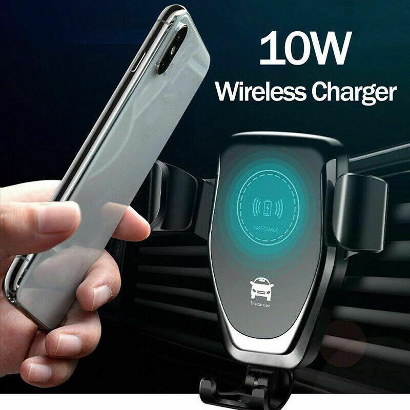 2020 Hot Vente voiture sans fil Chargeur Mont 10W rapide Qi Chargeur de voiture Air Vent Phone Holder pour iPhone XS XS MAX 8 Plus Samsung Galaxy S10