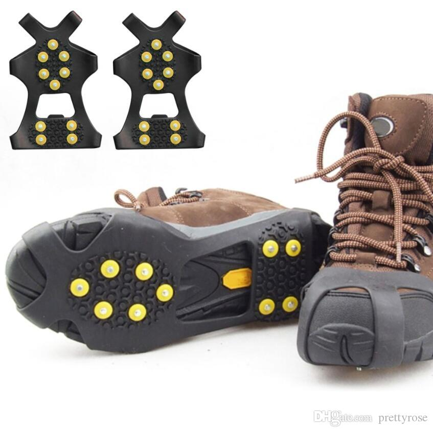 Lot 2 Non-slip Snow Cleat Anti-Slip Overshoe Studded Ice Traction Shoe Cover XL