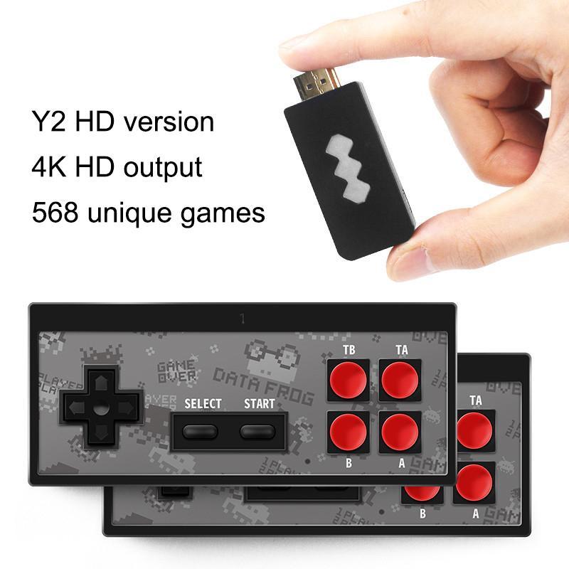 Nuovo 4K HD giocatore del video gioco palmare wireless Joystick gioco HDMI 568 AV 600 Retro Classic Games Wireless In Portable Console da gioco della