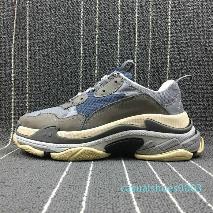 2019 Paris Fashion 17FW Triple S zapatillas de Triple-S Casual papá para hombre zapatos de diseño de combinación deportes para hombre Formadores Chaussures zapatillas c03