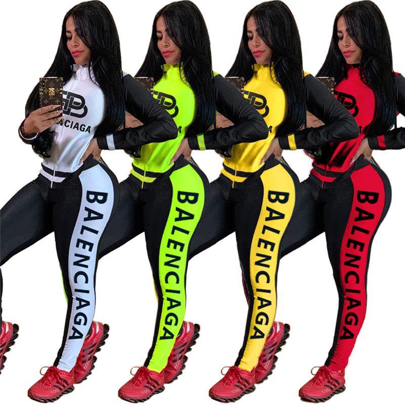 Mulheres Jacket + Leggings 2 Piece Set Outfits Cardigan + calças justas Jogging terno listrado Shirts Inverno Vestuário Sportswear Streetwear 1634