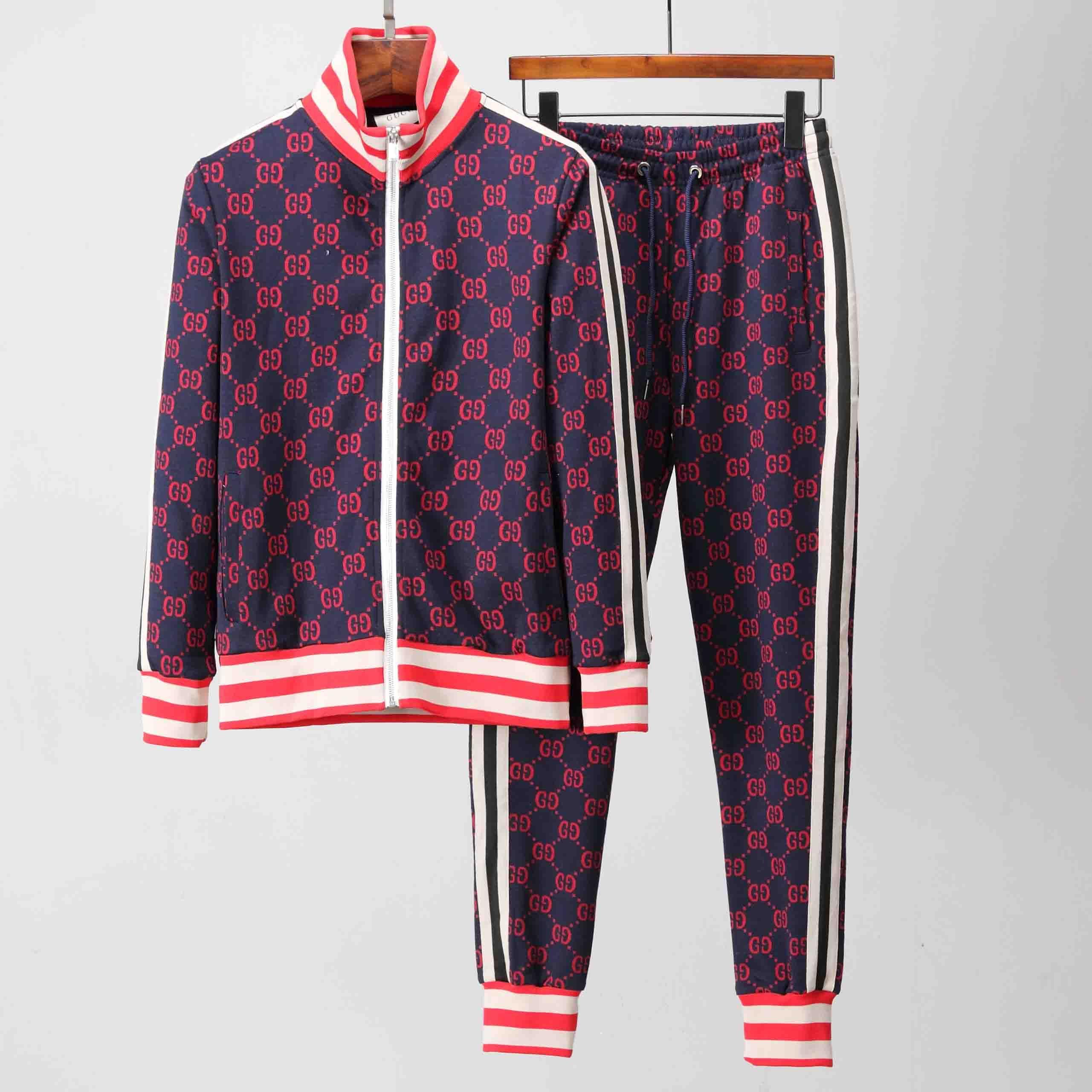 2018 Yeni Eşofman Ceketler Set Moda Koşu Eşofman Erkekler Spor Takım Elbise Mektup baskı Ince Giyim Parça Kiti Medusa Spor M-2X