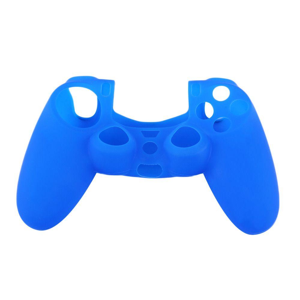 Mais novo preto vermelho azul suave silicone de borracha Gel pele antiderrapante caso capa para PS4 Controlador