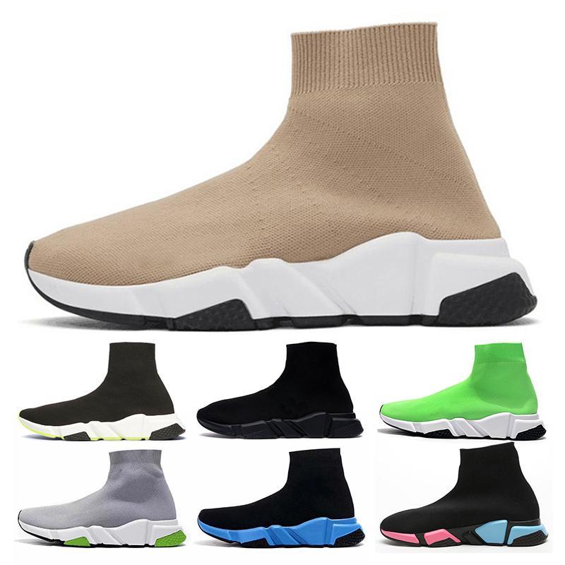 balenciaga ÇORAP Ayakkabı Eğitmenler Tam Kırmızı Tripler Siyah hız eğitmeni Lacivert glitter moda lüks erkek tasarımcı marka bayan casual ayakkabı koşucular