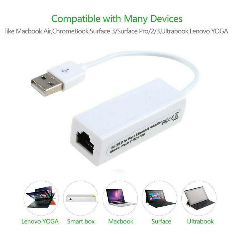 NEW USB Internet Ethernet LAN Network Adapter Cable For Mac book Pro