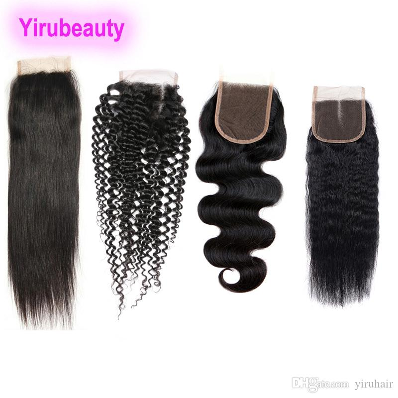 Brazilian 4 X 4 Lace Closure Kinky Curly Straight Hair Body Wave Kinky Straight Human Hair 8 20 Inch Lace Closure Hair Extensions Buy Lace Closure Closures For Hair From Yiruhair 23 96 Dhgate Com
