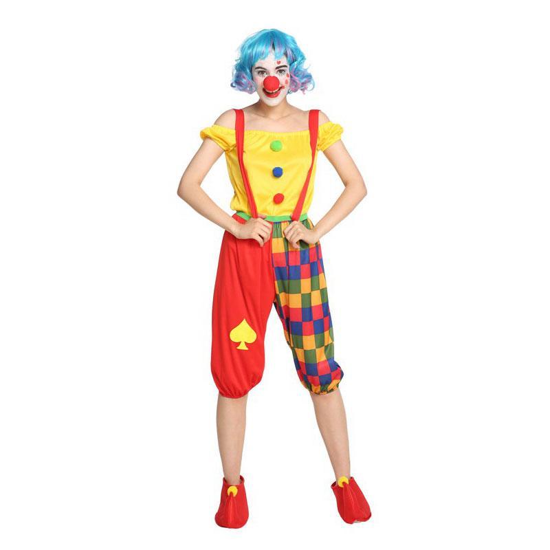 성인 여성 청소년 재미 점프 랜턴 바지 서커스 광대 의상 할로윈 푸림 카니발 무도회 마디 그라 파티 의상