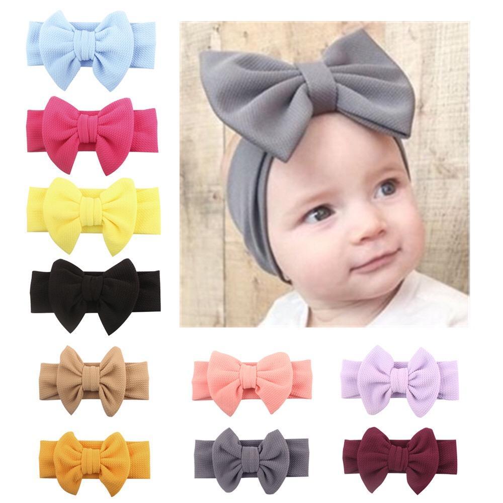 bebê cabelo faixa Adorável Big Bow headbands cabelo lindo arco crianças bebê crianças menina doce cor do cabelo acessórios de moda banda frete grátis