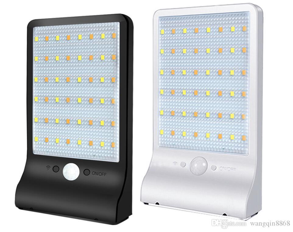 벽 조명 거리 램프 모션 센서 (48) LED 빛은 야외 홈 방수 내구성이 환경 친화적 인 태양 에너지 조명 제어