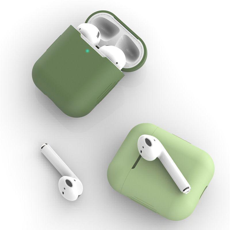 Mode airpods1 / 2 Fall Headset Schutzabdeckung für airPods universelle drahtlose Bluetooth-Headset Silikon absturz Fall-