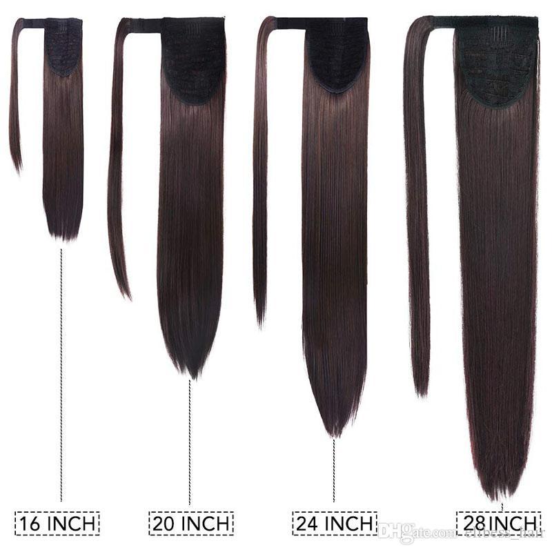 Saç Uzatma Düz Saçın 100g sette / içinde% 100 İnsan Remy saç at kuyruğu Atkuyruğu Klipler