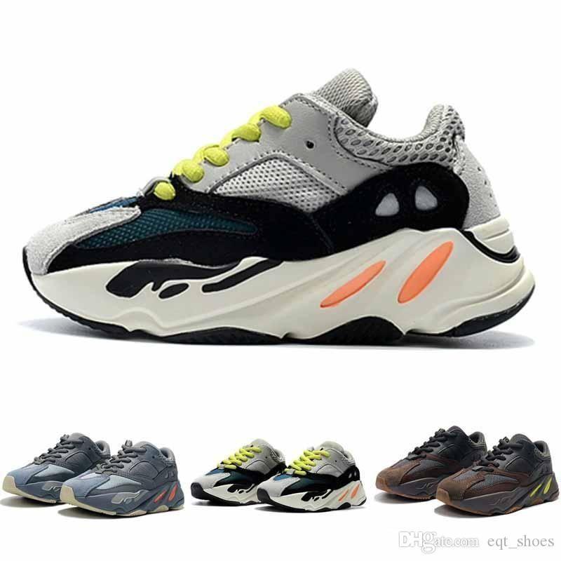 2020 Kids Shoes corredor da onda 700 sal estática Kanye West Running Shoes Boy Girl sapatilha Esporte sapatos Crianças Athletic Shoes Com Box