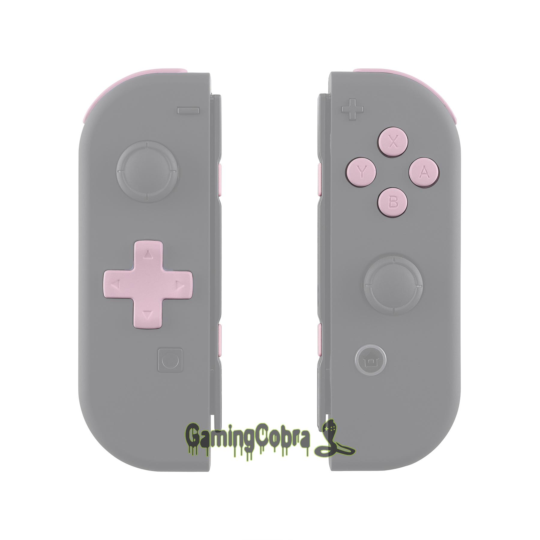 Soft Touch Sakura Pink Replacement D-pad ABXY Keys SR SL L R ZR ZL Trigger Full Set Buttons w/ Tools for Nintendo Switch