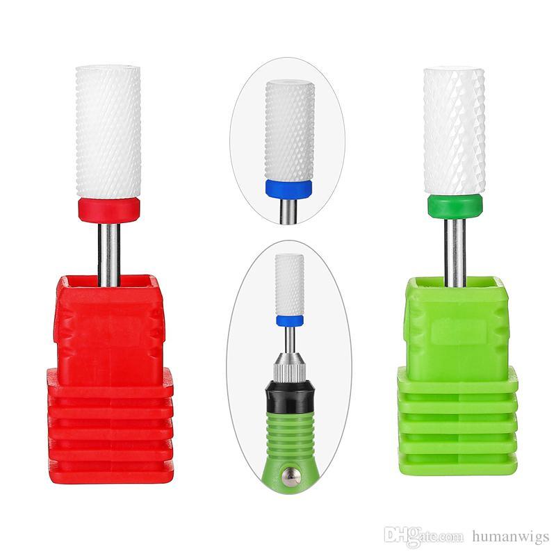 Meisha 2.35mm Ceramic Nail Drill Bit Rotate Burr Milling Cutter Bits For Manicure Pedicure Tool Electric Nail Drill Accessories HF0011