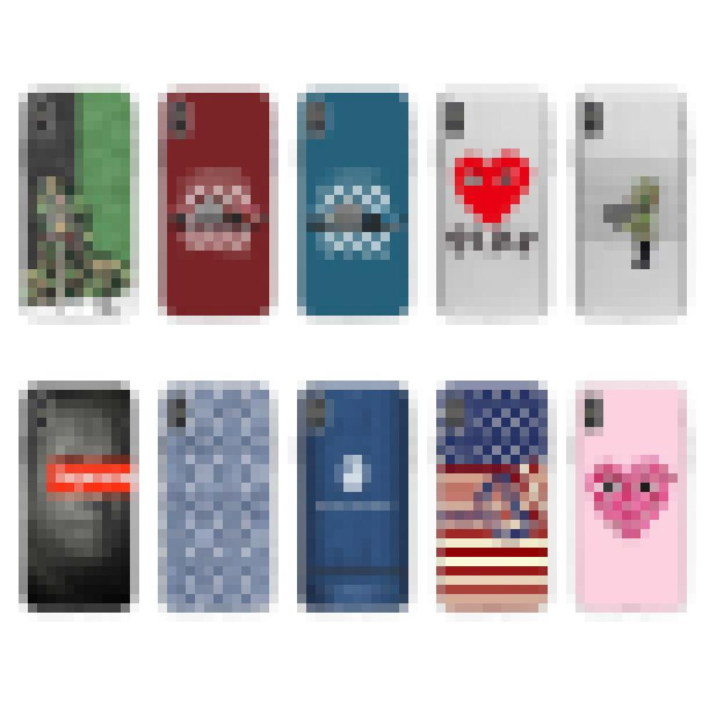 For Iphone 11 Pro Phone Case Xs Max Xr Cartoon Striped Love 7 8 X Plus Fashion Transparent TPU Soft Cell Phone Cases