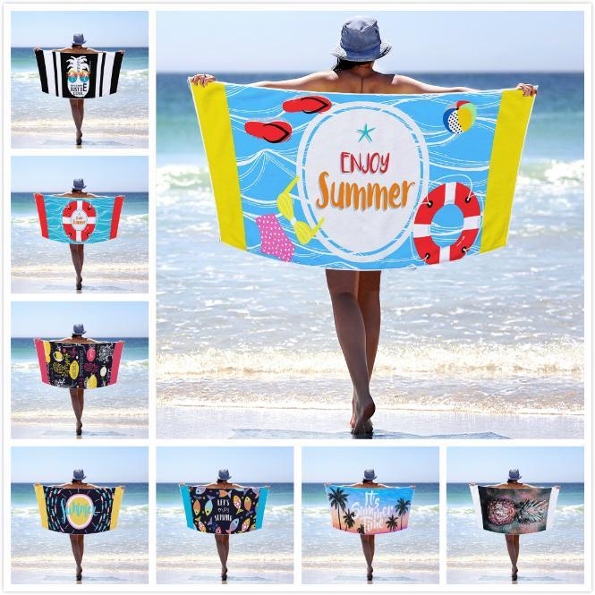 Microfibre Summer Beach Serviette Grande salle de sport Sport Piscine Serviette Femmes 70x150 Big Yoga Mat Mode Summer Surf Robe Couverture