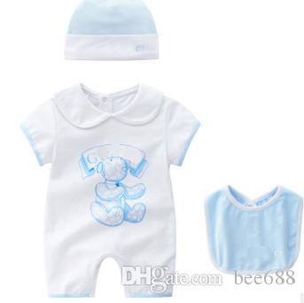 HOT New baby macacão Recém-nascido Infantil Baby Boy Girl verão roupas Bonito Dos Desenhos Animados Impresso Romper Macacão Escalada Roupas