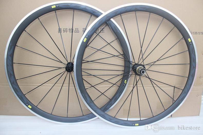 Powerway R36 محاور السيراميك الكربون الطريق دراجة عجلات الفاصلة سبيكة الفرامل سطح عجلات سبائك الكربون 38 ملليمتر الحافات الكربون الألومنيوم العجلات 38 ملليمتر