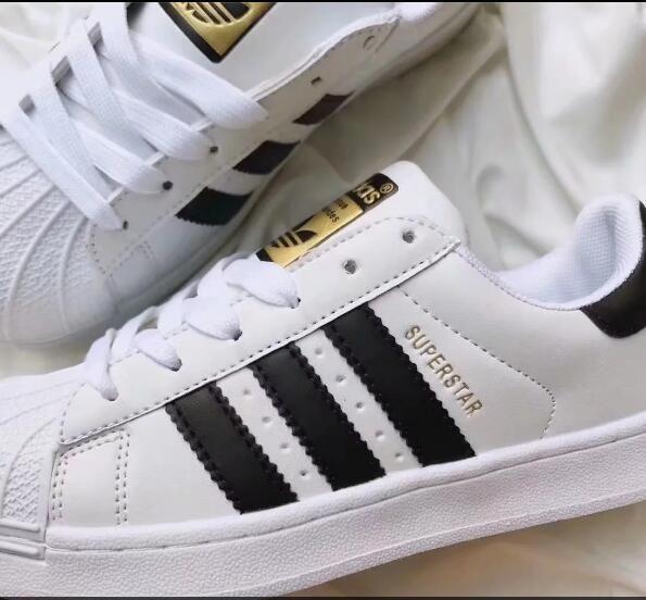 Big size EU 36 44 Originals Men s Shoes For Women s Shoes White Shoe Laser Dazzle Colour Superstar Shell Head casual shoes Free Shipping