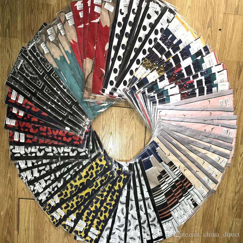 Seidenschal 100% reine Seide Halstücher der Frauen Mode-Accessoire Kopfbedeckungen 10 PC / Los # 4147