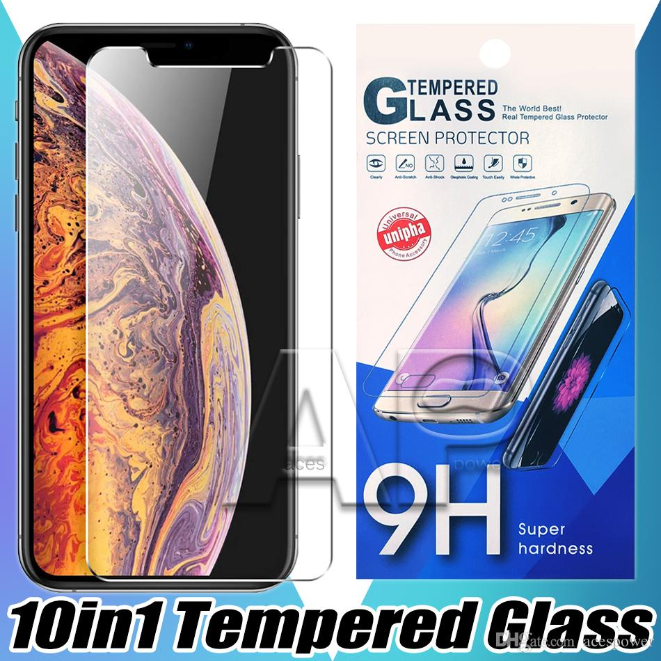 Tempered Glass Screen Protector For Iphone 11 Pro Max XR XS MAX X 8 7 Plus LG K51 Stylo 6 Aristo 4 Plus