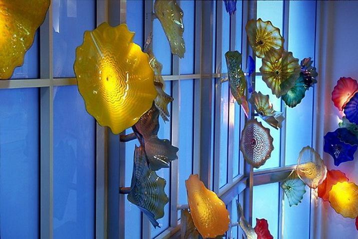 Placas de cristal Murano Art Glass parede decorativo Art Blown Placas de parede de vidro Multi Color modernos