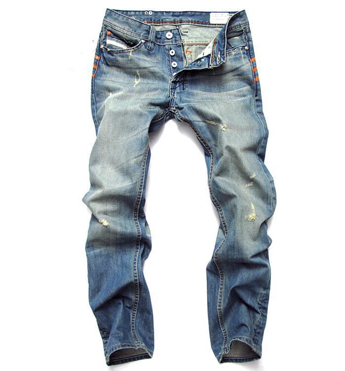 2016 uomini sottili del nuovo di modo i pantaloni casuali elastici `s degli uomini Pantaloni luce blu di qualità accoppiamento libero in cotone denim jeans uomo