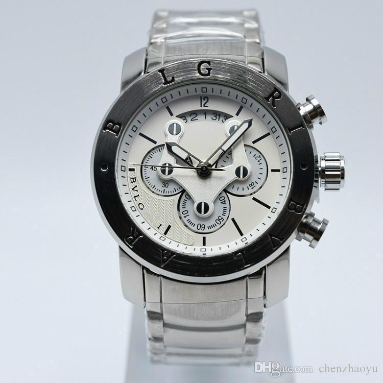 Novos homens e mulheres de aço inoxidável marca nova marca relógio de quartzo das senhoras da forma de luxo relógio de quartzo grande explosão