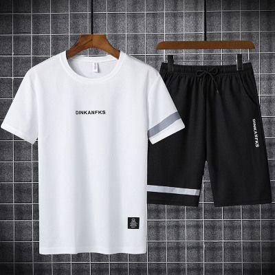 Hommes costumes du sport d'été Ensembles Casual Mens Designer Deux-pièces Jeunesse Mode Vêtement de sport 2020 Nouveau Solide Couleur manches courtes + Shorts