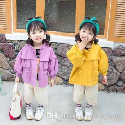 baby coat kids designer jackets kids girls clothes Herren Children solid short windbreaker doudoune 2019 Korean girls jacket tooling coat