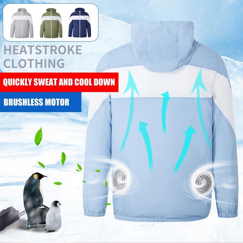 2020 unisexe été Manteau Vêtements de protection solaire avec ventilateur de refroidissement extérieur Climatisation Sport Manteau X85