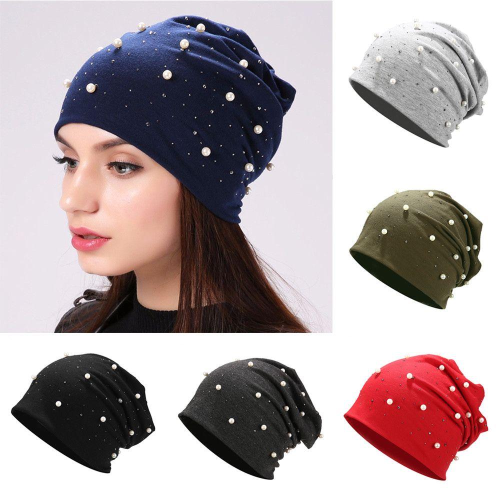 Womens Beanie Hat Casual Cotton Shine Rhinestones Beanies Winter Hat for Women  Skullies Beanies Cap Hats Accessories Skullies & Beanies