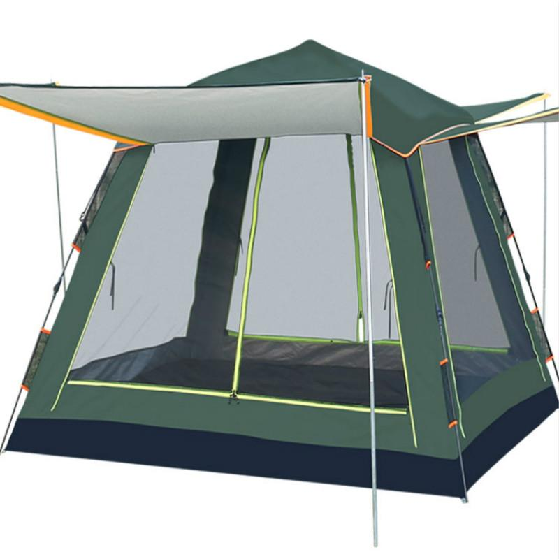 Tente Camping En Plein Air Baraza De Acampamento Camping Mer Épaississement Carpas De Single Automatique Randonnée Équipement de Voyage