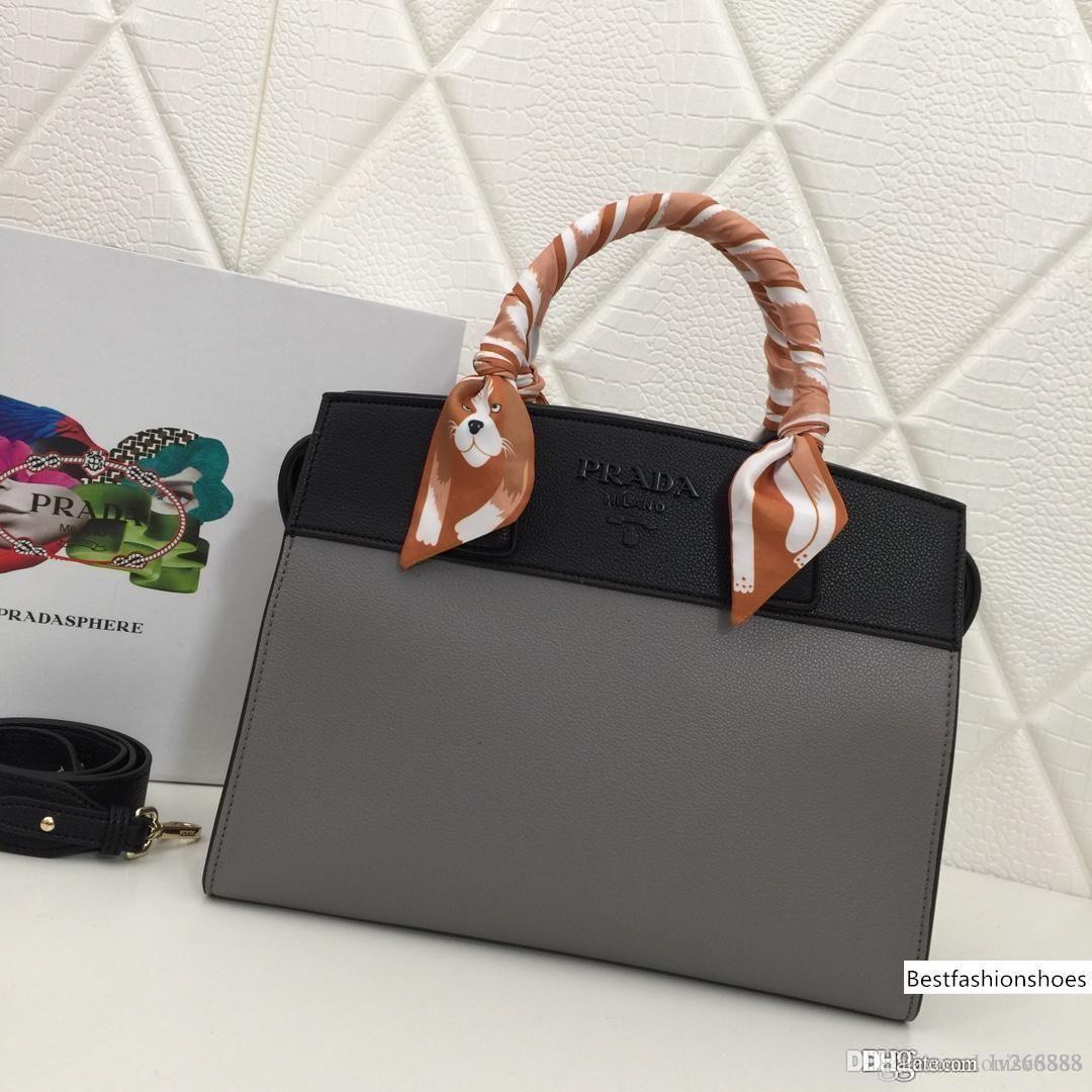 Nouveau mode haut de gamme luxe Correspondance de couleur / couleur unie sac à main avec Foulard en soie litchi Sac à main couleur en option Nombre: 2027.