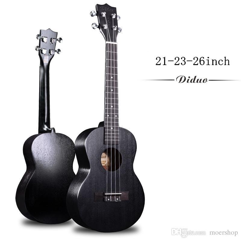 Soprano Concierto Tenor Ukelele Acústico Eléctrico Mini Pulgada Ukelele Black Mahogany Guitarra Uke