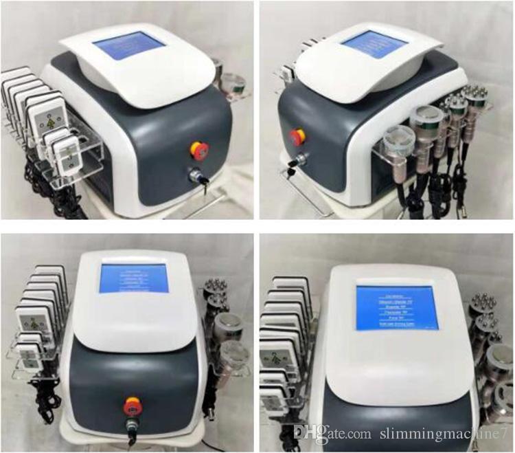 6 en 1 à ultrasons Minceur RF Machine Raffermissement lifting visage Cavitation Radio Fréquence vide Fat cellulite enlèvement matériel de salon