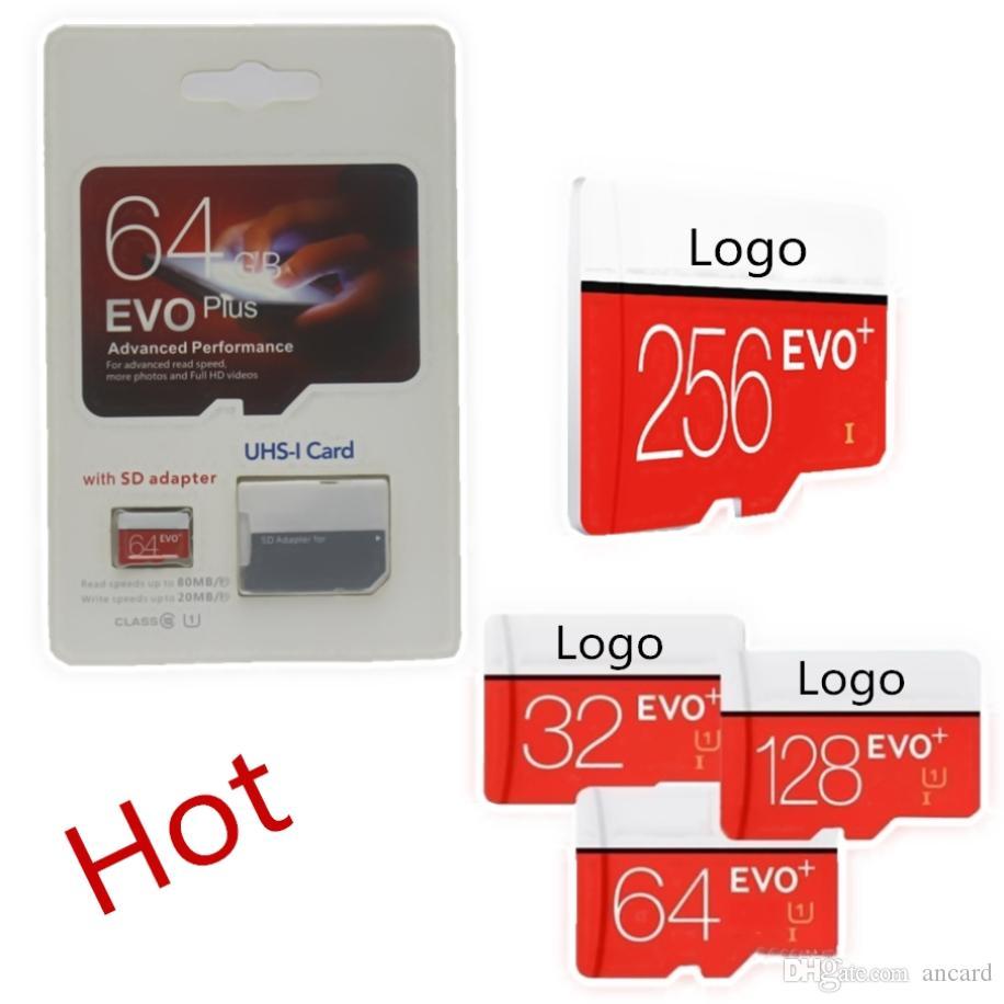 2020 톱 판매 128기가바이트 64기가바이트 32기가바이트 EVO PLUS 마이크로 SD 80메가바이트 / s의 UHS-I CLASS10 모바일 메모리 카드 15pcs