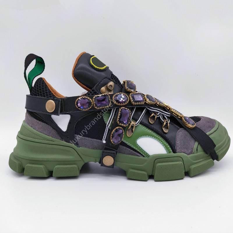 2020 yeni son Flashtrek sneakers ile ayrılabilir kristal erkek lüks ayakkabı rahat moda lüks bayanlar ayakkabı sneaker898