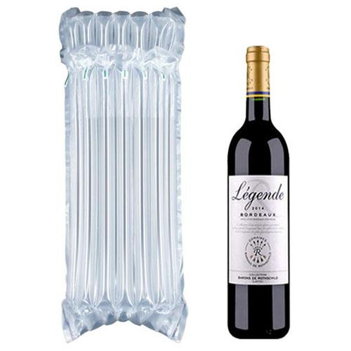 PE حقيبة الهواء دناج شغل واقية زجاجة النبيذ التفاف نفخ الهواء وسادة العمود يلف أكياس مع مضخة مجانية