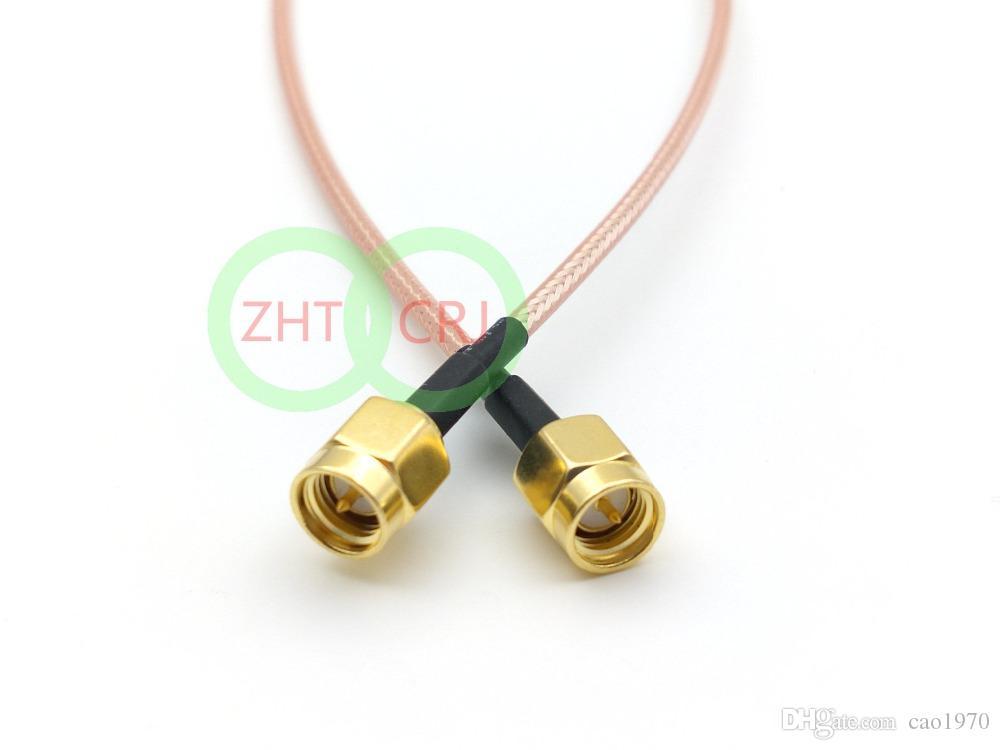 SMA Male Plug till SMA Male Plug Rak Crimp RG316 Kabel 50cm