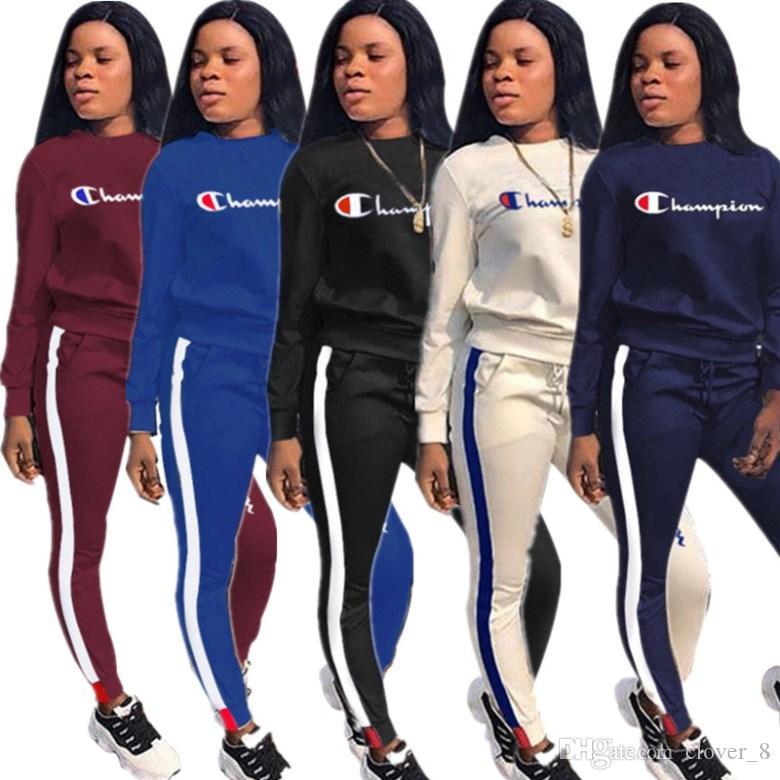 Femmes de sport tenues de sweat à capuche manches longues Ensemble 2 pièces survêtement de jogging sweat à capuche Sportsuit legging collant sweat-shirt costume de sport 2727
