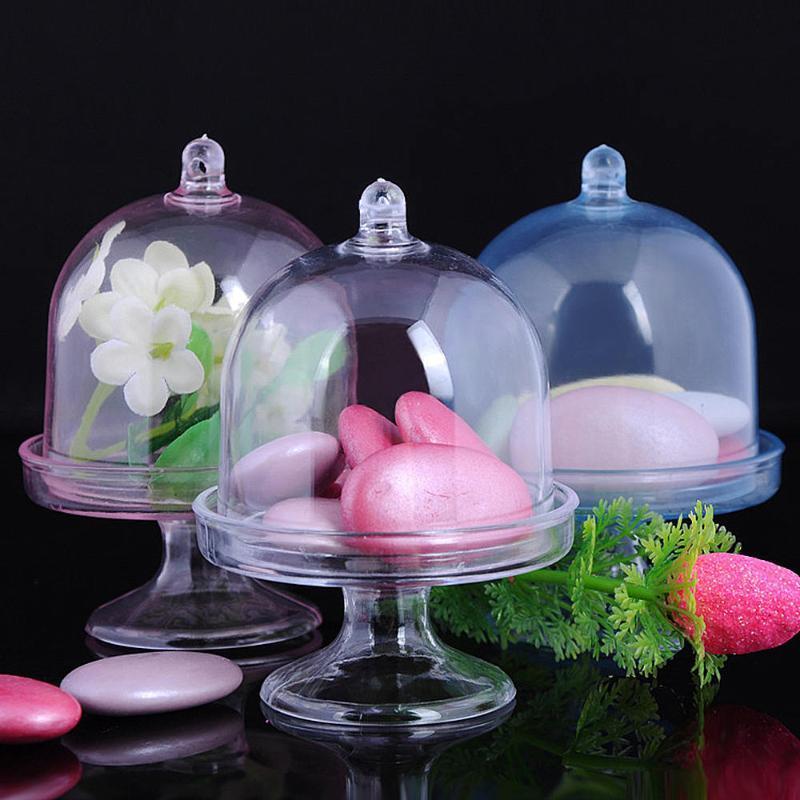 Yeni 12 adet Plastik Kılıf Şeffaf Plastik Dome Saklama Kutusu İçin Şeker Tatlılar Hediye Kılıf Sıcak