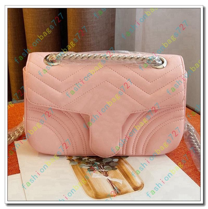 luxury designer cosmetic bag womens Mini quilted metal cover Shoulder Diagonal Bag Ladies Chain Wallet Phone Bag Soho PINK 191024