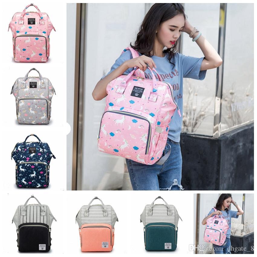 Diaper Waterproof Backpack YYW2482 Printed Unml Fashion Baby Colors Travel Backpacks Unicorn Nappy Handbag Bags Bags Nursing Bag Care D Fuxx