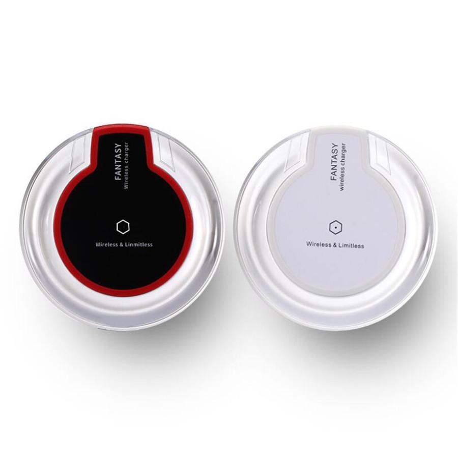De calidad superior Qi cargador de carga inalámbrica para Samsung S6 S7 S8 Edge Plus X iPhone 8 Fantasía de alta eficiencia del cojín con el paquete al por menor