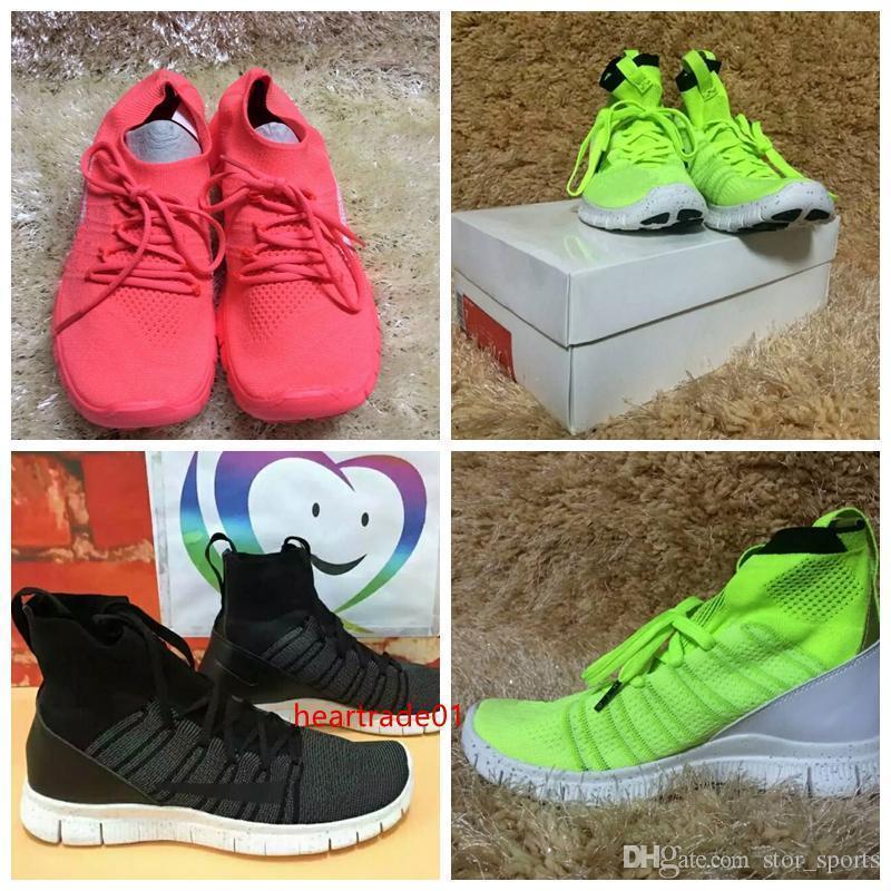 boxPrice! com especial New correr livre Mercurial 5.0 High Top respirável tênis para mulheres dos homens Atlético Sport Sneakers 36-45