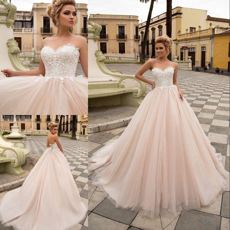 Abiti Da Sposa Hot.Champagne Ball Gown Wedding Dresses Abito Da Sposa Sweetheart Neck