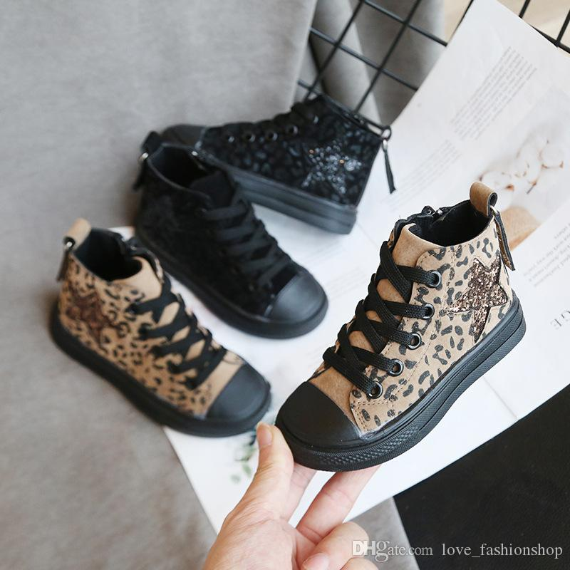 Fashion Kids High Top Canvas Lace Up Shoes Trainers Toddler//Little Kid//Big Kid