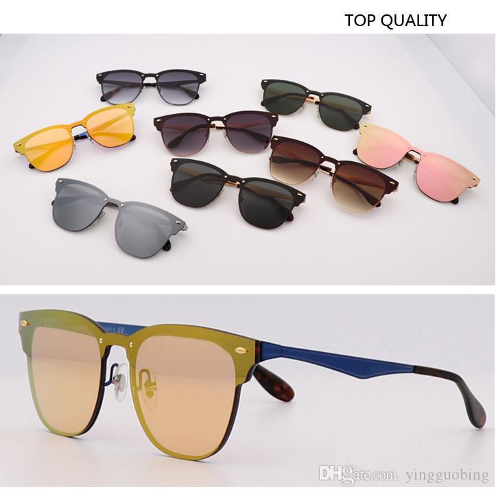 أحدث أعلى جودة العلامة التجارية مصمم النظارات الشمسية نادي 3576 UV400 الحريق روز مرآة الذهب أعلى شقة عدسة طلاء Lentes موهير فلاش gafas النظارات الشمسية